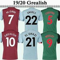 villa soccer al por mayor-19 20 Aston Villa Grealish para hombre de fútbol jerseys SPAANS WESLEY CHESTER EL GHAZI Inicio uniforma las camisas del fútbol KODJIA McGinn DOUGLAS LUIZ