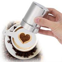ingrosso stencil spray-16Pcs Coffee Stencils Latte Art Nespresso Cafe Schiuma spray Template Barista Stencil Caffè Stampa Decorazione Cappuccino Schiuma