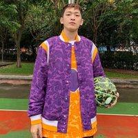 vestes de basketball de baseball achat en gros de-19ss Snoop Dogg équipe de basket-ball violet veste manteau de baseball en vrac jaune mode hommes femmes Couple MA1 survêtement HFTTJK095