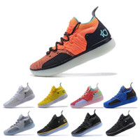 Wholesale kd boots size for sale - 2019 KD EP White Orange Foam Pink Paranoid Oreo ICE Mens Basketball Shoes Kevin Durant XI KD11 Trainers Sneakers Size