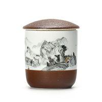 Wholesale medicine jars resale online - Small Jar For Tea Storage Porcelain Tea Cans Tank Portable Sealed Sugar Medicine Pot Tea Storage Box For Kitchen Canister Creative Gifts