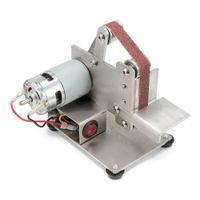 mini tezgah toptan satış-DIY 7-speed Mini Kemer Sander Tezgah Dağı Öğütücü Parlatma Taşlama Makinesi
