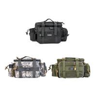 Wholesale fishing waist tackle bags resale online - Multifunction Fishing Storage Bag cm Outdoor Fishing Waist Pack Lure Bag Shoulder Fishing Tackle Bag ZZA528