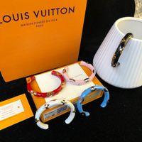 Wholesale titanium fish hooks resale online - Designer Bracelet Personality Color Men s and Women s Accessories Luxury Fashion Accessories Blue Red Black Pink White Metal Bracelet