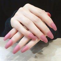 fransız çivi ayak parmakları toptan satış-Parmak / Toes 20 Türleri Çok Renkler Kalp Nail Design Lady Dekorasyon Fransız Tırnak için 2020 POP Öncesi Tasarım Sahte Çiviler Tam Kapak Tırnak İpucu