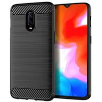 Wholesale phone oneplus 6t online – custom Soft Silicone Case Shockproof Fitted Carbon Fiber TPU Phone Cover for Oneplus T Protective Back Bumper Cover