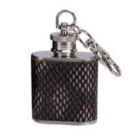 ingrosso bottiglia di alcol d'argento-Bottiglia di whisky in acciaio inox vino fiaschetta viaggio alcol whisky tasca fiaschetta in argento bottiglie di alcol