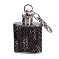 balão de whisky prata venda por atacado-Garrafa De Uísque De Aço Inoxidável Vinho Hip Flask Viagem Álcool Uísque De Bolso Hip Flask Garrafas De Álcool De Prata