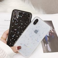 силиконовый блеск оптовых-Силиконовый чехол Love Heart TPU для iPhone XS MAX XR X iPhone 6s Plus Прозрачный чехол Shine Star Чехол для 6s 6s Plus iPhone 8 Plus XR Чехол