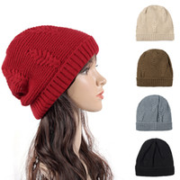 Wholesale cute travel accessories for sale - Group buy Simple Winter Travel Cashmere Wool Hat Europe And America Elastic Knitted Cap Cute Beanie Fashion Accessories rm Ww