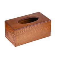ingrosso supporto porta scatola di legno-Home Tissue Box Storage Holder Portatovaglioli da cucina Elegante semplice in legno massello di carta