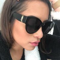 Wholesale sunglasses street resale online - fashion sunglasses women sunglasses European and American cat eye sunglasses trend ocean lens glasses colorful versatile street glasses