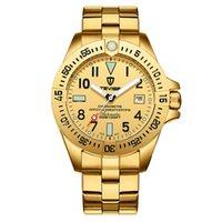homem, mão, relógio, tempo venda por atacado-TEVISE T839A Mecânico Automático Homens De Negócios Assistir Calendário Tempo Display Casual Luminosa Mãos À Prova D 'Água Masculino relógio de Pulso