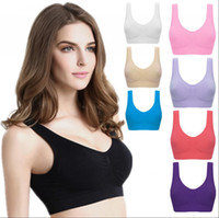 Wholesale xxl yoga tops for sale – designer Plus Size Sports Bras vest Yoga Work Out Crop Tops Fitness Push Up Gym Bras Run Seamless Elastic wire free Adjustable AAA2033