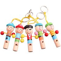 düdük çalgı toptan satış-200 Adet / grup Ahşap Islık Eğitim Çocuk Düdük Ahşap Çocuk Hediye Enstrüman Parti Malzemeleri