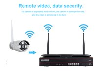ingrosso monitor nvr cctv-4CH Wireless 1080P NVR Kit HD LCD Monitor 4CH wifi NVR Sicurezza 2MP Audio WIFI telecamera CCTV Sistema APP telecomando