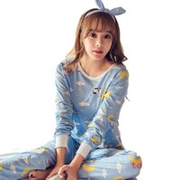 Wholesale suit pijamas for sale - Group buy Women s Pijamas Suit Home Clothes Pyjama Femme Womens Pajamas Sets Long sleeve suit Animal Cartoon Large Size Girls Sleepwear