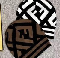 kahverengi şapka toptan satış-2019 Moda Erkekler ve Kadınlar için Bere Şapka Örme Yün rahat Beaniesembroidery Kış spor Kapaklar üst kahverengi Caps