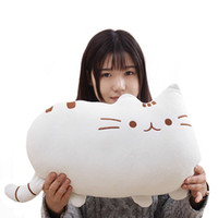 Wholesale anime cat pillows resale online - Lovely Big Tail Cat Plush Toy Dolls Children s Christmas Gifts Girls Anime Stuffed Toys Baby Room Decorative Back Seat Cushion
