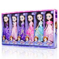 ingrosso set regalo per bambine-Bambola Barbie 25CM confuso ragazza bambola giocattolo 6 stili principessa abito set bambole bambine grandi occhi regalo per bambina