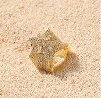 14k ct gold großhandel-Diamond Pinky Ring Herren 14k Gelbgold Finish Rundschnitt Ehering 2.50 CT
