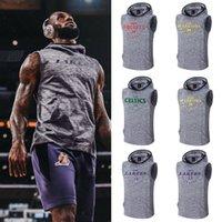 sweat à capuche sans manches beige achat en gros de-Sweats de sport Sweats à capuche Irving / James / Bryant pour entrainement