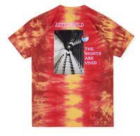 kanye west t gömlek stili toptan satış-2019ss yeni üst ASTROWORLD TRAVIS SCOTT t-shirt Travis Scott kanye west Festivali Run Kravat Boya Tee Erkek Kadın kanye west Yaz Stil S-XL