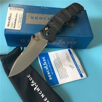 borboleta de bancada venda por atacado-Fibra de Carbono Benchmade BM484 Nakamura M390-AXIS bloqueio faca lidar com exterior EDC C81 BM 940 942 BM810 faca 781 3300 484-1 BM42 borboleta