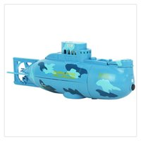 rc barcos submarinos al por mayor-Mini RC Submarine Ship 6CH Radio de alta velocidad Control remoto Modelo de barco Eléctrico Niños Juguete Ejercicio Capacidad mental