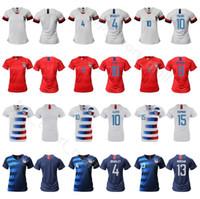 uniforme al por mayor-Mujeres Crystal Dunn Jersey 19 Soccer Lady 8 Julie Ertz 10 Carli Lloyd 13 Alex Morgan 15 Megan Rapinoe Kits de camiseta de fútbol Uniforme