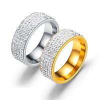 стальной карбид оптовых-8 мм титановое кольцо из карбида стали со стразами Мужское и женское обручальное кольцо Группа США Размер от 6 до 13 Цвет (золото, серебро)