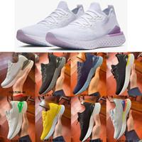 gelbe plattform sneakers großhandel-2019 Epic React 2 Designer Männer Frauen Müßiggänger Schuhe für Männer Odyssey fliegen weiß schwarz Sport Trainer Plattform Casual Turnschuhe Strickschuh