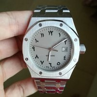 Wholesale watches arabic numerals resale online - luxury watch pin royal men Ancient Arabic numerals mm back open Automatic machinery sweeping movement no battery watches oak