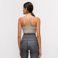 Sexy Women Sports Bra Top LU-79 Female HollowOut Sleeveless Fitness Gym Running Yoga Vest Tank Crop Top Activewear Brassiere