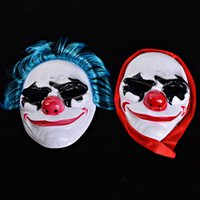 Wholesale nose clown party online - Clown Full Face Mask Men Women Fearsome Halloween Funny Red Nose Party Supplies Masquerade Cosplay PP Masks jq hh