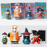 ingrosso roshi di palla di drago-[TOP] 4 pz / lotto Anime 10-15 cm Dragon Ball Z Sun Goku Maestro Roshi Gohan set giocattolo Action PVC Figure Da Collezione Modello bambola regalo