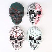 máscara de máscara completa venda por atacado-Máscara de Horror esqueleto Halloween Crack Máscara de Crânio Grito Máscaras Masquerade Adulto Rosto Cheio Retro Máscaras de Festa GGA2654