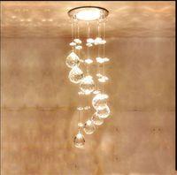 ingrosso mini illuminazione a lampadario a sospensione a cristallo-Mini lampada a sospensione moderna Lampadario a sospensione a LED in cristallo Lampadario a sospensione a sospensione AC 110V2 20V Illuminazione a LED da cucina