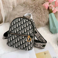Wholesale backpack purses for women for sale - Group buy 2019ss new fashion Handbag men Women backpack Canvas letter embroidery backpack Handbag purse for lady girl male small size Casual Bags