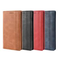 ingrosso jeans caso samsung-Flip Wallet Jean Porta biglietti da visita in pelle per Samsung Galaxy S10 S10 Plus Funda per uomo donna