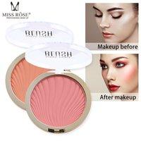palette blush pcs großhandel-1 Stück Monochrome Blusher Palette Langlebige Gesichtskontrolle Pink Orange Blush CD88