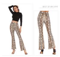 Wholesale flare pant legging for sale - Group buy Womens Pants Summer Slim Slimming Wide Leg Designer Pant Leopard Flare Women High Waist New Arrival Designer Luxury