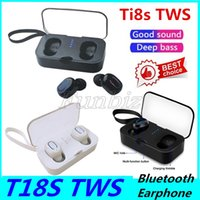 Wholesale playing music bluetooth headset for sale - Group buy Ti8S T18S TWS Mini Wireless Bluetooth Earbuds Binaural Calls Both Side Music Play Headphone Sport Ture Stereo Earphones In Ear Headset