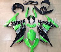 verkleidungssätze für kawasaki ninja großhandel-OEM-Qualität Neue ABS-Spritzguss Fairings Kits Fit für Kawasaki Ninja 300 EX300 2013 2014 14 Fahrzeugart Grün Schwarz gesetzt
