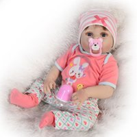 Wholesale real soft toys resale online - 57CM Full Body Soft Silicone Reborn Baby Doll Bathe Toys Lifelike adorable vinyl doll cute Bebe Real Reborn Boneca doll hot sale