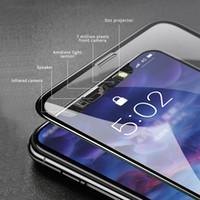 protector de pantalla iphone gratis al por mayor-Para Iphone X Cristal templado Protector de pantalla 6D Touch Edge 9H Dureza Anti-scratch Shield Pantalla completa de vidrio para Iphone X 8 7 6 más gratis sh