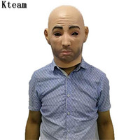 Wholesale full face mask for girls resale online - New Realistic male Mask For Halloween Human male Masquerade Latex Party Mask Sexy Girl Crossdress Costume Cosplay Mask Toy