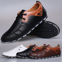 Wholesale cool business men shoes resale online - Men Spring Summer Fahsion Breathable Casual Shoes Men Cool Business Doug Shoes Peas Shoes