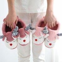 sandálias do natal das meninas venda por atacado-Natal Cervos do inverno crianças Chinelos Bebés Meninas Meninos Sandals Calçado Crianças Casual Início Sandals macia Sole Interior Andar Shoes