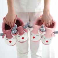 chaussures de sport d'hiver pour filles achat en gros de-Noël cerfs communs hiver d'enfants Chaussons bébé Filles Garçons Sandales Chaussures enfants Casual Accueil Sandales Semelles souples Intérieur Chaussures sol